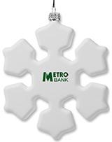 Shatterproof Snowflake Custom Christmas Ornaments