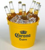 Plastic beer buckets with your custom logo