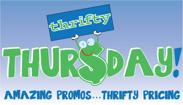 Thrifty Thursday - Promotional Jotter with Pen