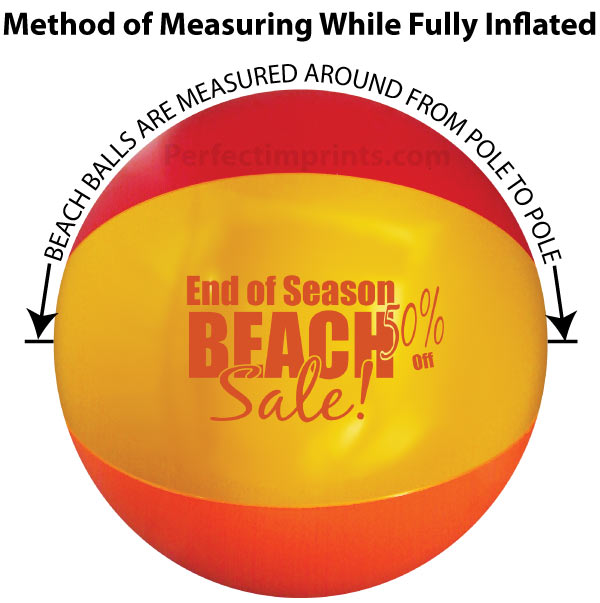 Measuring Promotional Beach Balls While Inflated