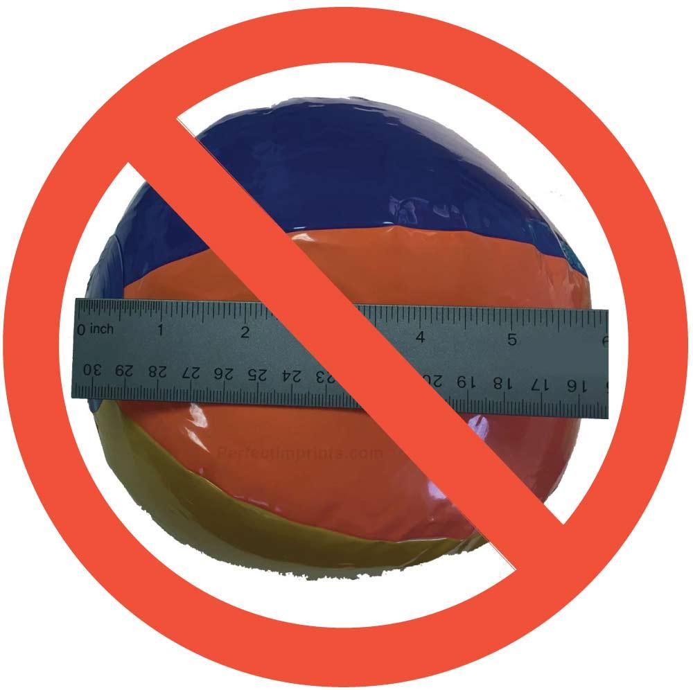 Wrong way to measure beach balls
