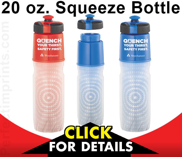 20 oz squeeze bottle - Great for National Bike Month