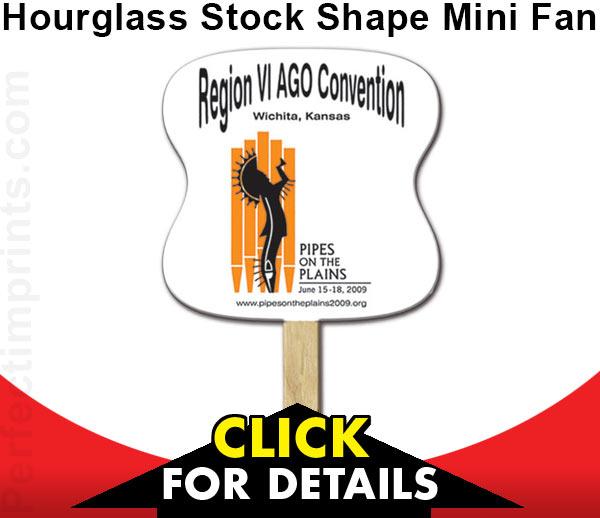 Hourglass Stock Shape Mini Fan