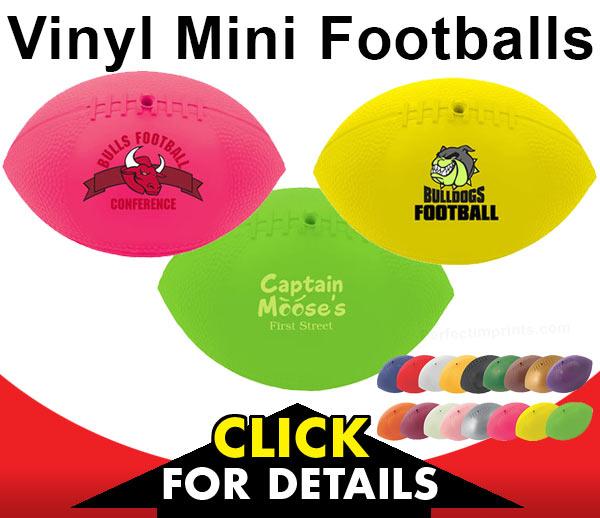Vinyl Mini Footballs