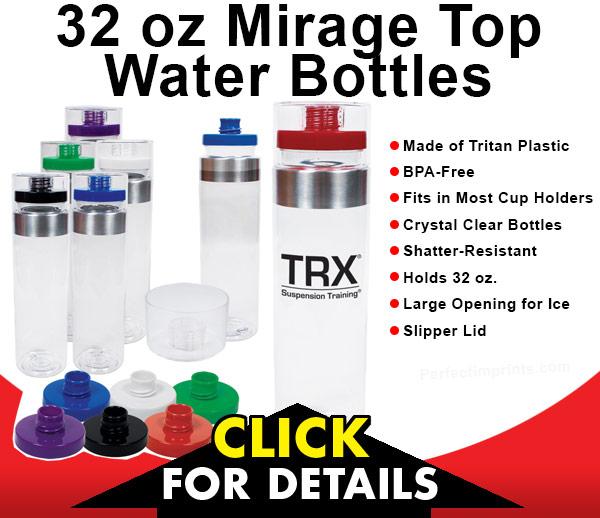 32 oz Mirage Top Promotional Water Bottles