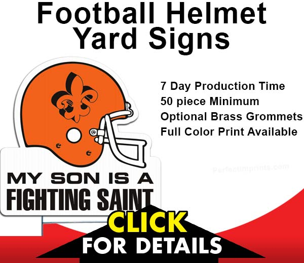 Football Helmet Shaped Yard Signs