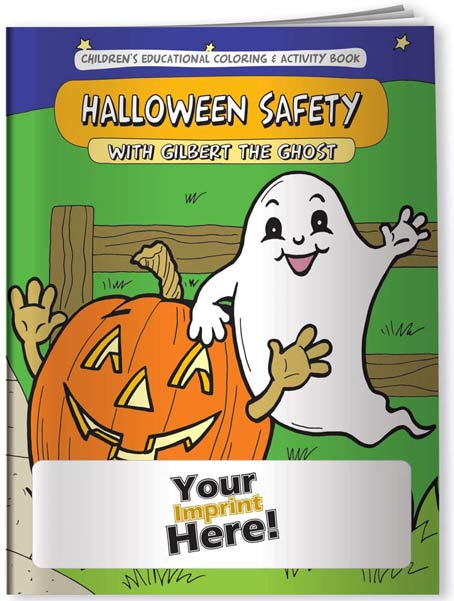 Coloring books to promote Halloween safety