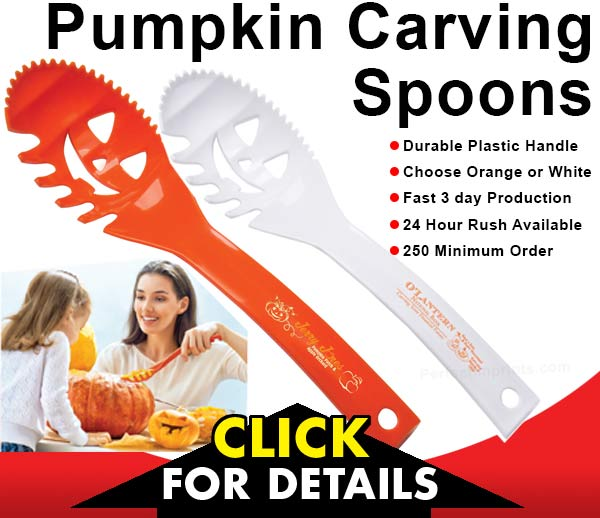 Pumpkin Carving Spoons - Thrifty Thursday Promotional Items for Fall and Halloween