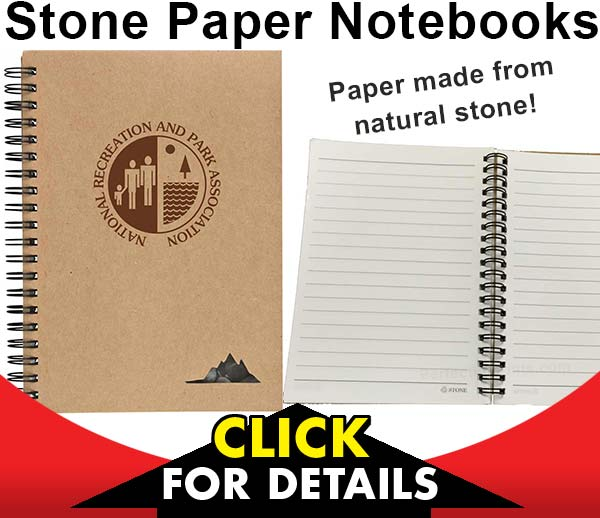 Notebooks with Stone Paper - Custom Printed
