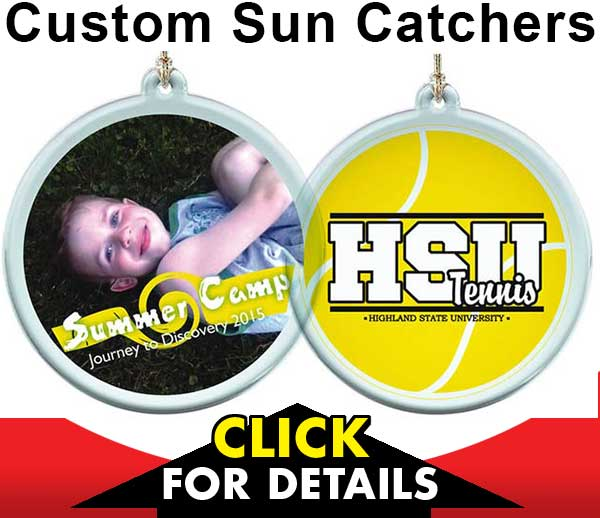 Custom Sun Catcher Christmas Ornaments - Thrifty Thursday