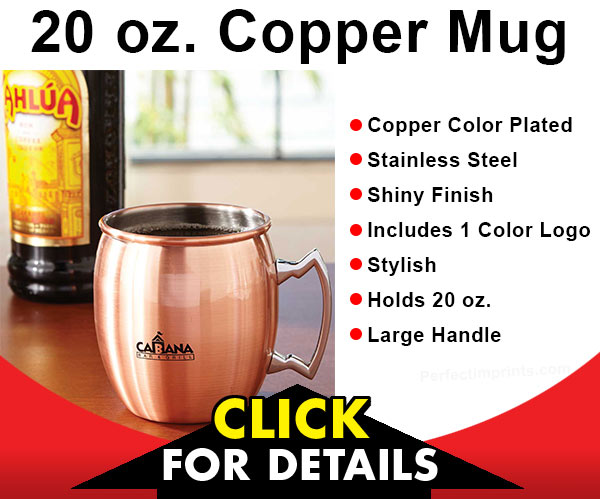 Promotional Copper Mugs have become very trendy