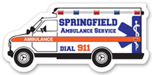 Custom Ambulance Magnet