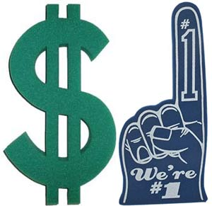 How to save money when you buy bulk foam fingers