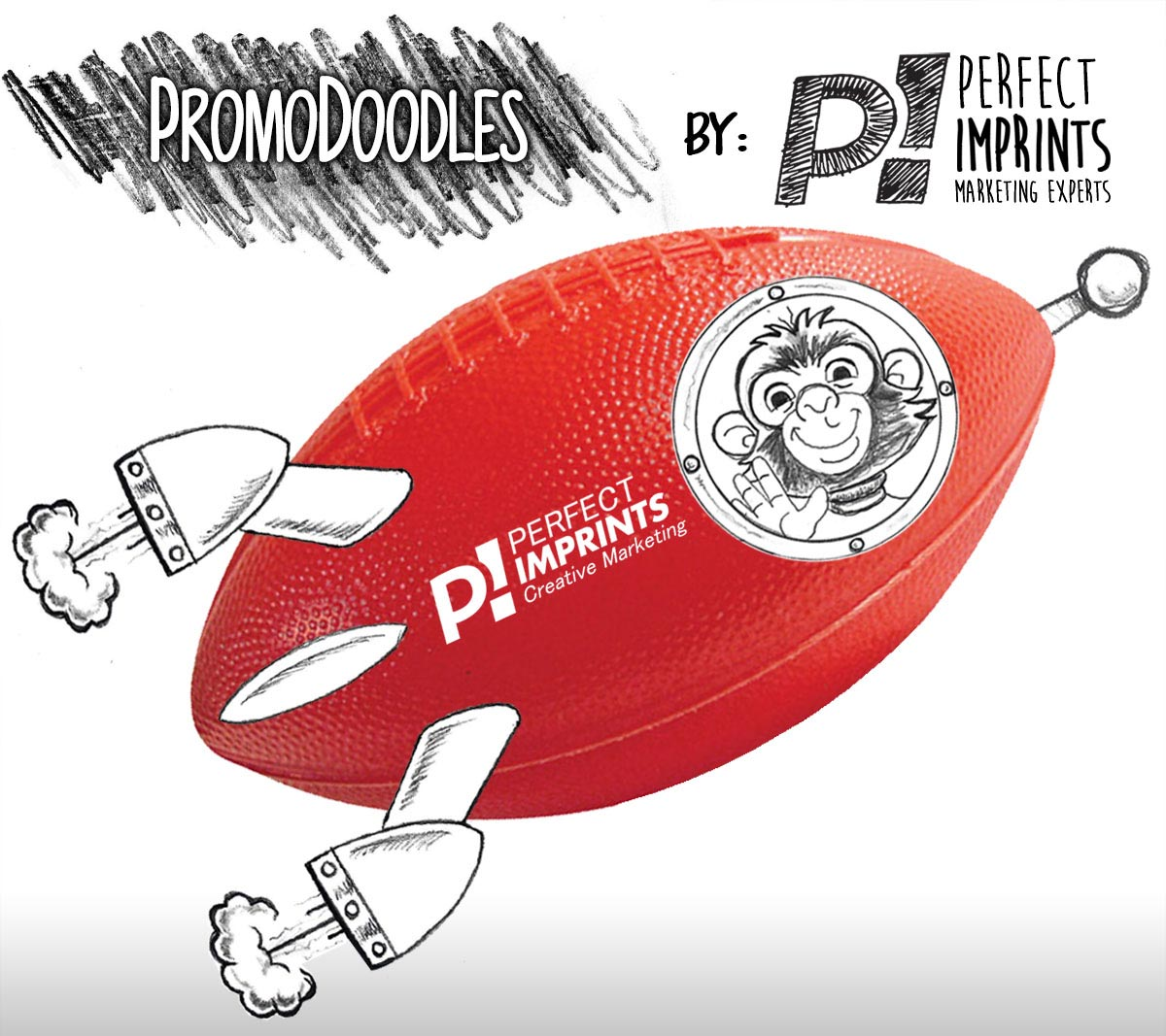 PromoDoodles by Perfect Imprints - Plastic Mini Footballs