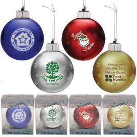 Light-Up Glass Custom Christmas Ornaments