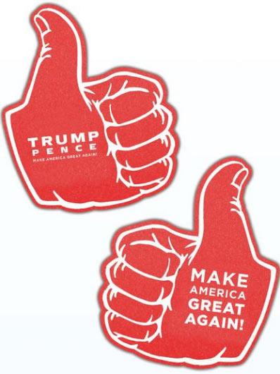 Trump Thumbs Up Foam Hands
