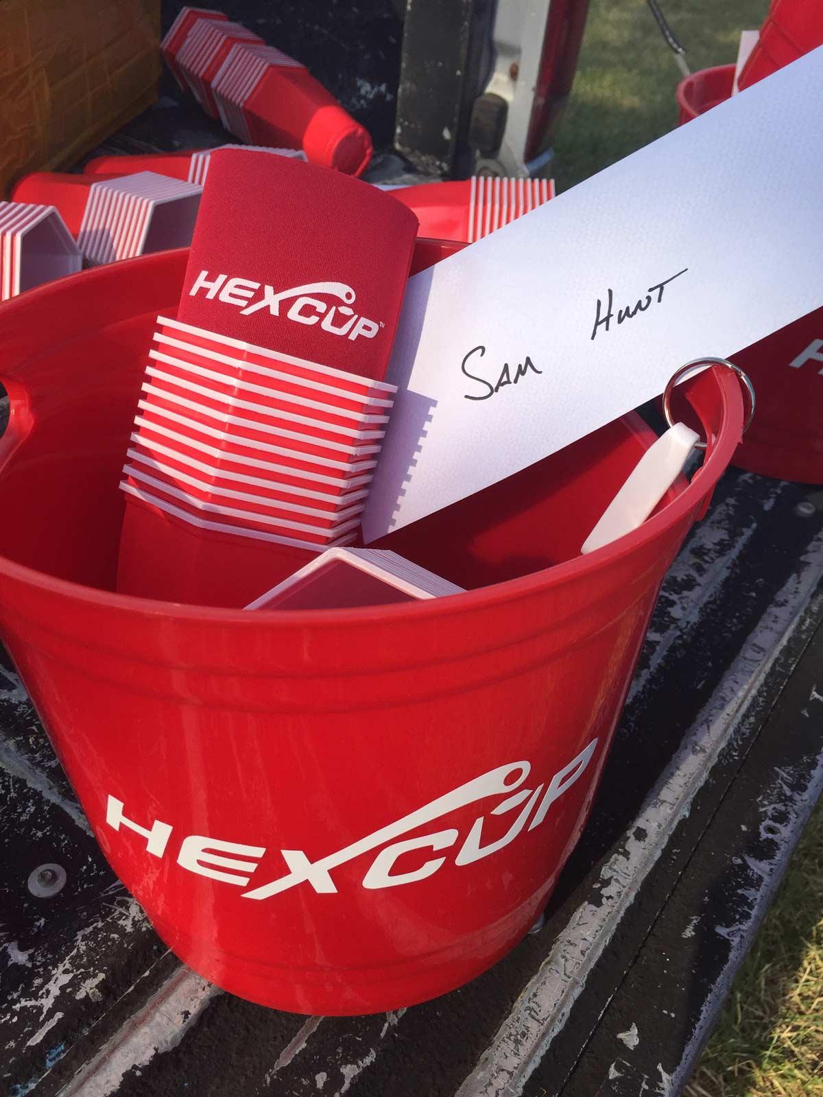 Hexcup beer pong set for Sam Owen