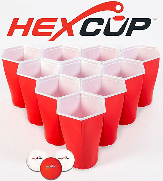 Hexcup Beer Pong Sets and their Custom Beer Buckets