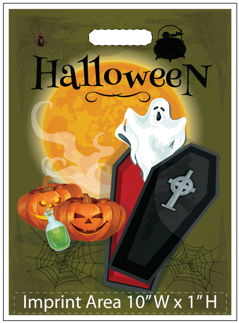 Ghost and Vampire Coffin Halloween Trick or Treat Bags