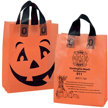 Orange Frosted Pumpkin Shopper Bags