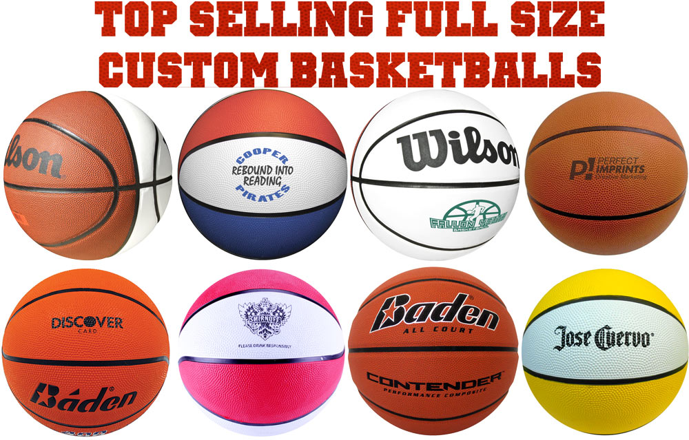 Top Selling Full Size Basketballs - Official Size and Intermediate Women's Size