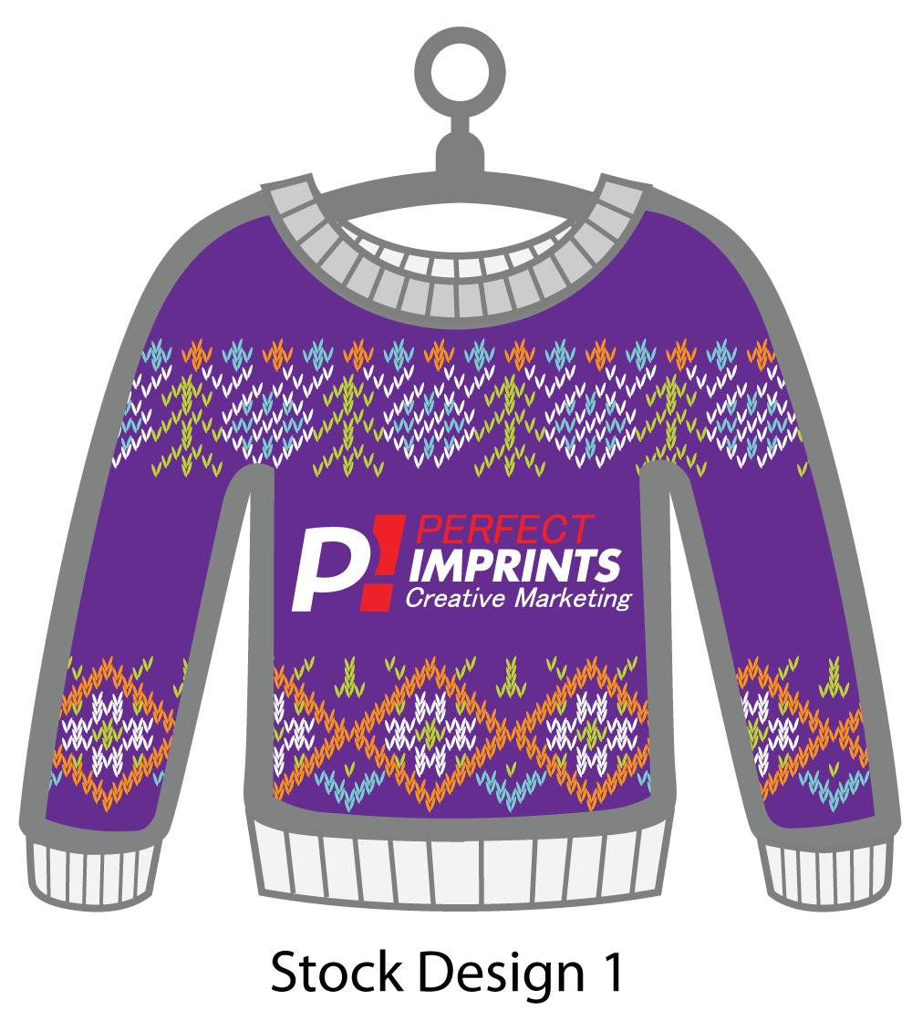 Ugly Sweater Christmas Ornament Stock Design 10