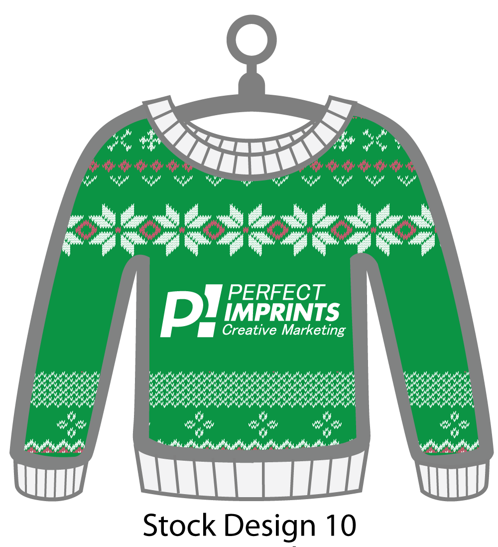 Ugly Sweater Christmas Ornament Stock Design 1