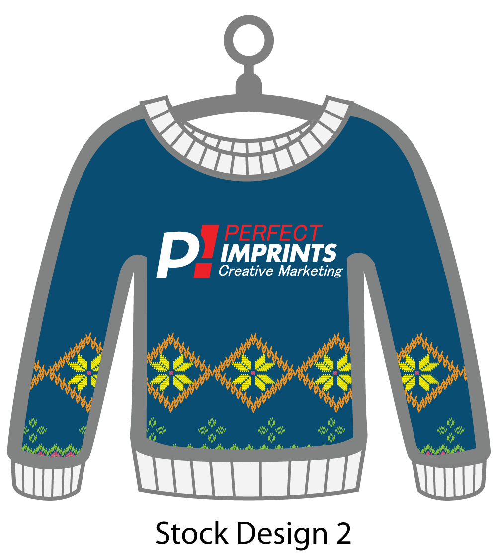 Ugly Sweater Christmas Ornament Stock Design 9