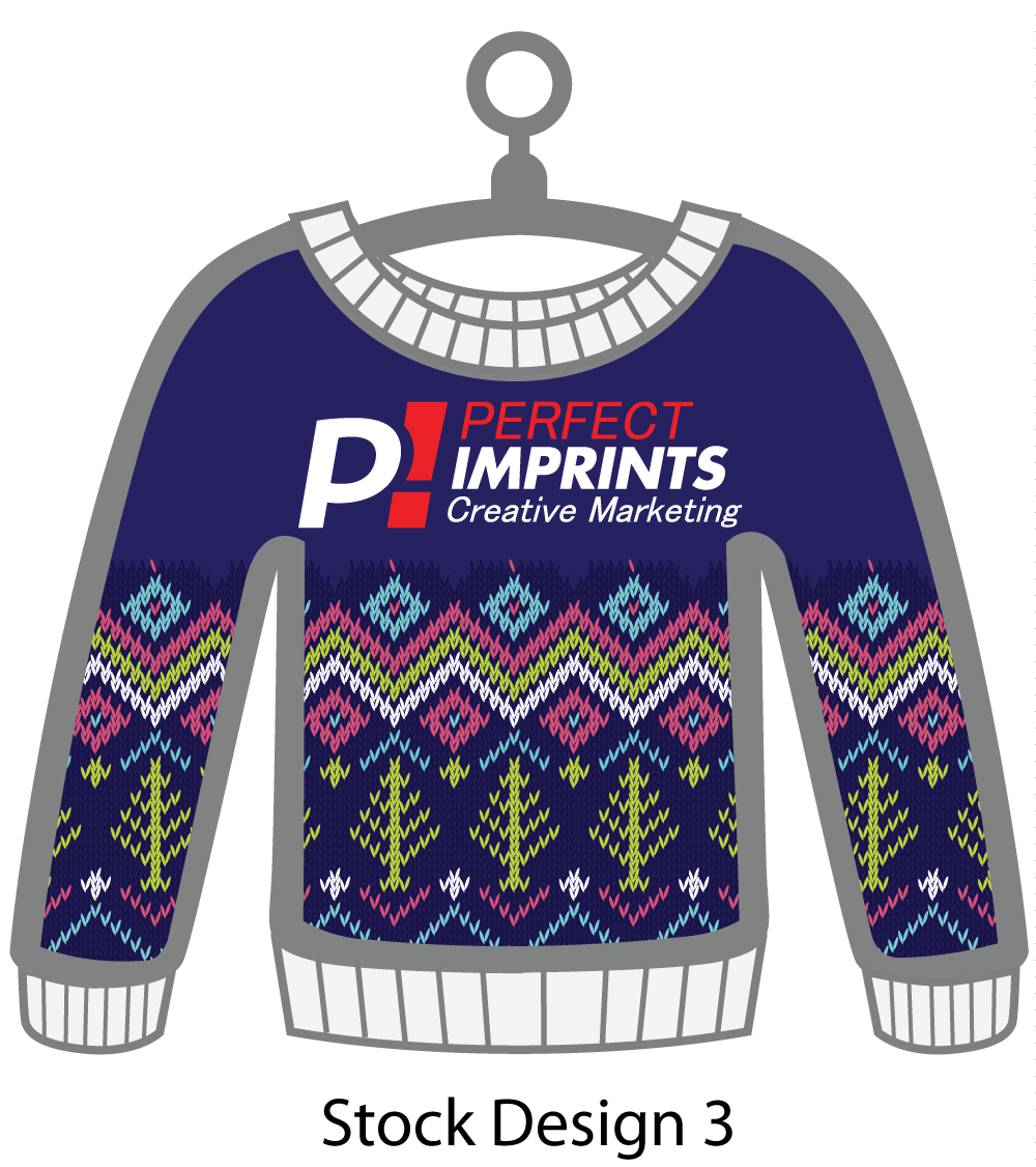 Ugly Sweater Christmas Ornament Stock Design 8