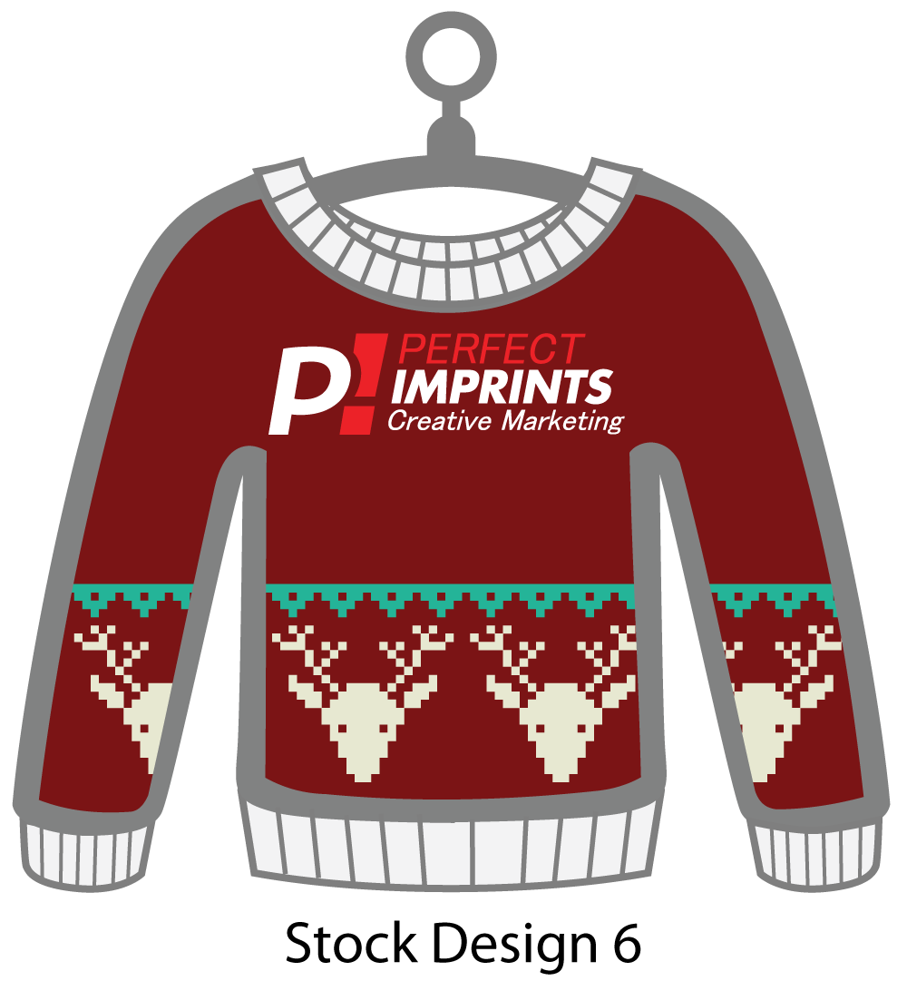 Ugly Sweater Christmas Ornament Stock Design 5