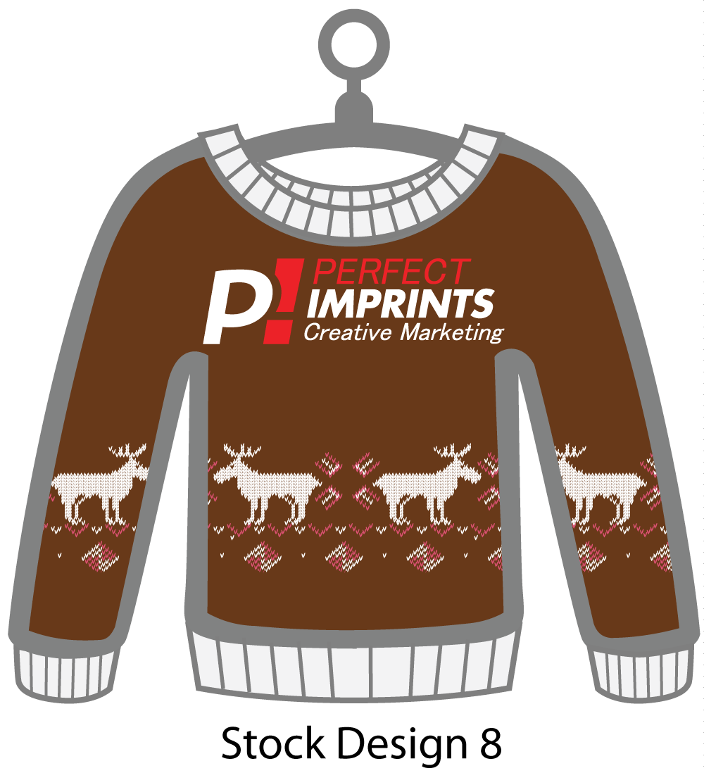 Ugly Sweater Christmas Ornament Stock Design 3