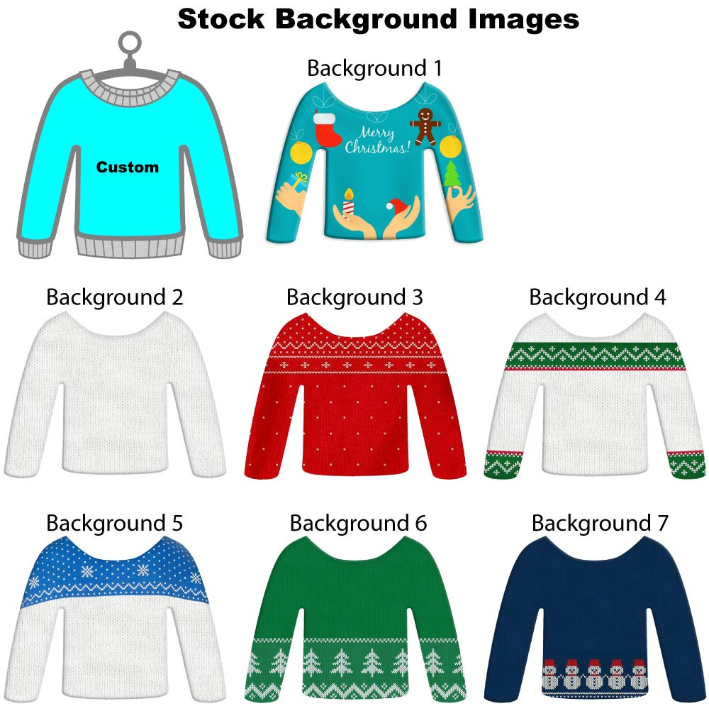 Stock Background for Ugly Sweater Christmas Ornaments