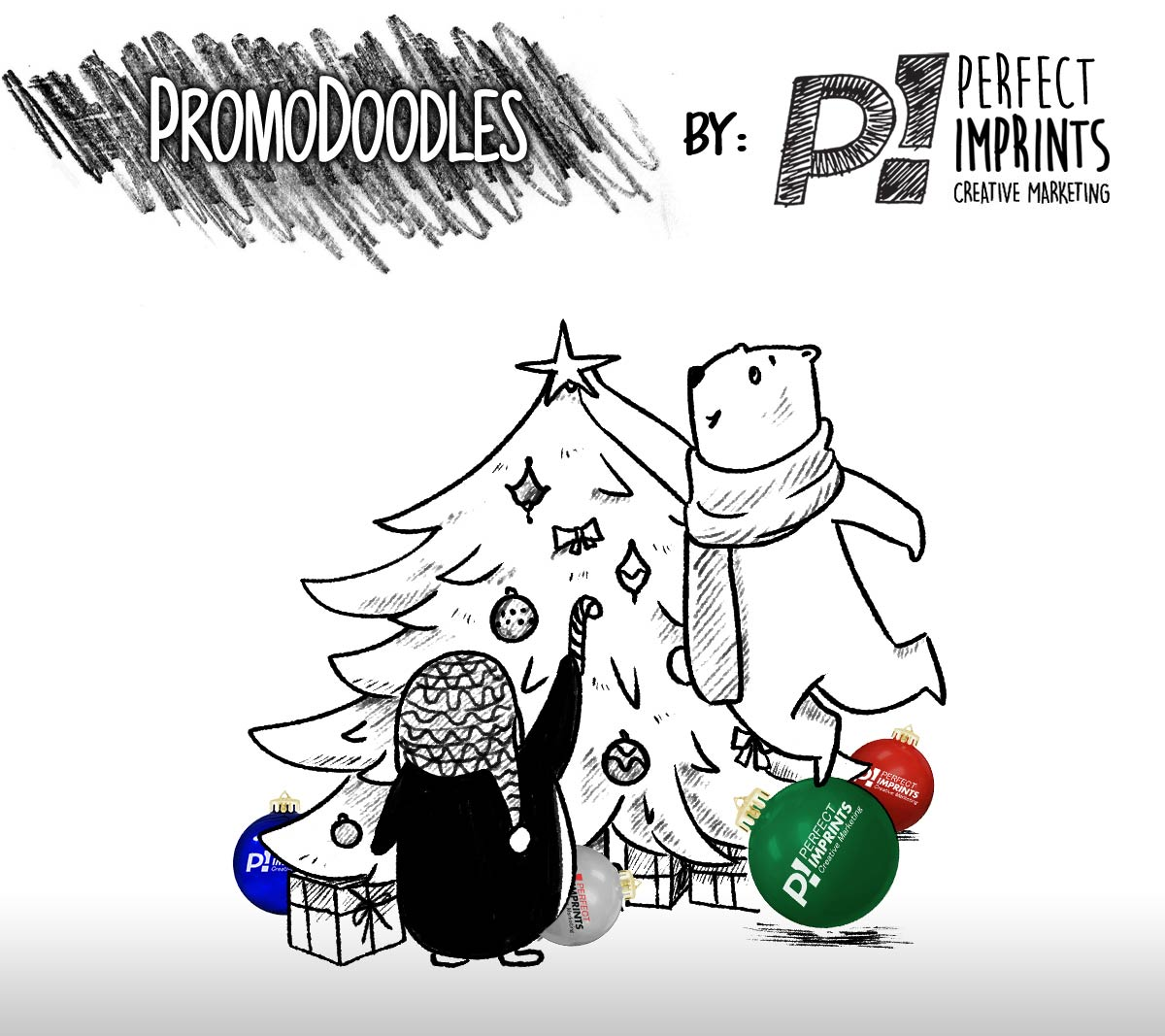 PromoDoodles by Perfect Imprints - Custom Christmas Ball Ornaments