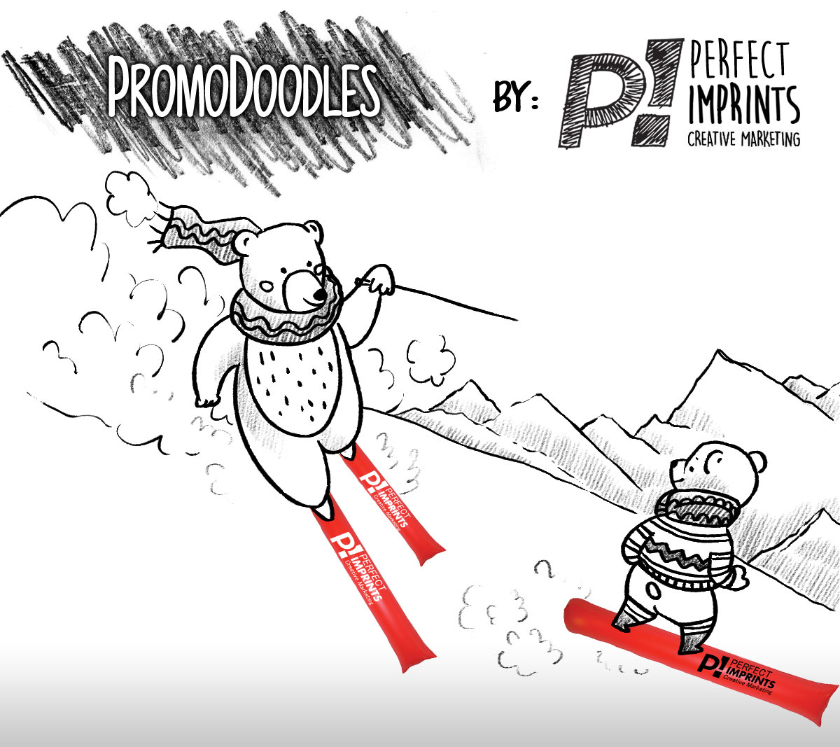 PromoDoodles by Perfect Imprints - Skiing with Thundersticks