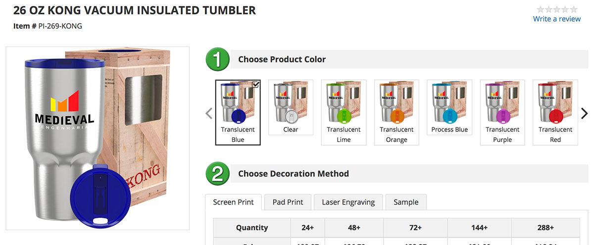 Better product photos on perfectimprints.com