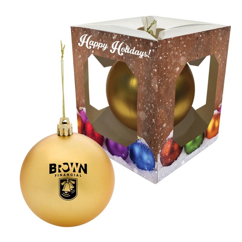Ball Ornaments with Custom Presentation Box