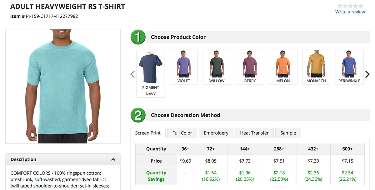 Screen Printed Apparel - Comfort Colors and other popular shirt styles