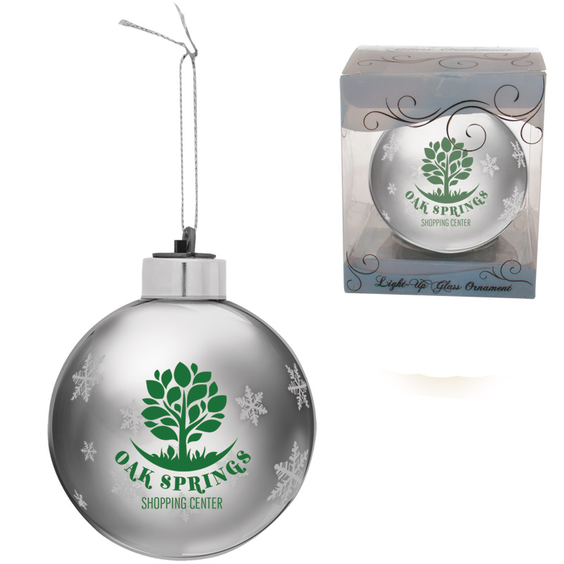 Light-Up Glass Ball Ornaments