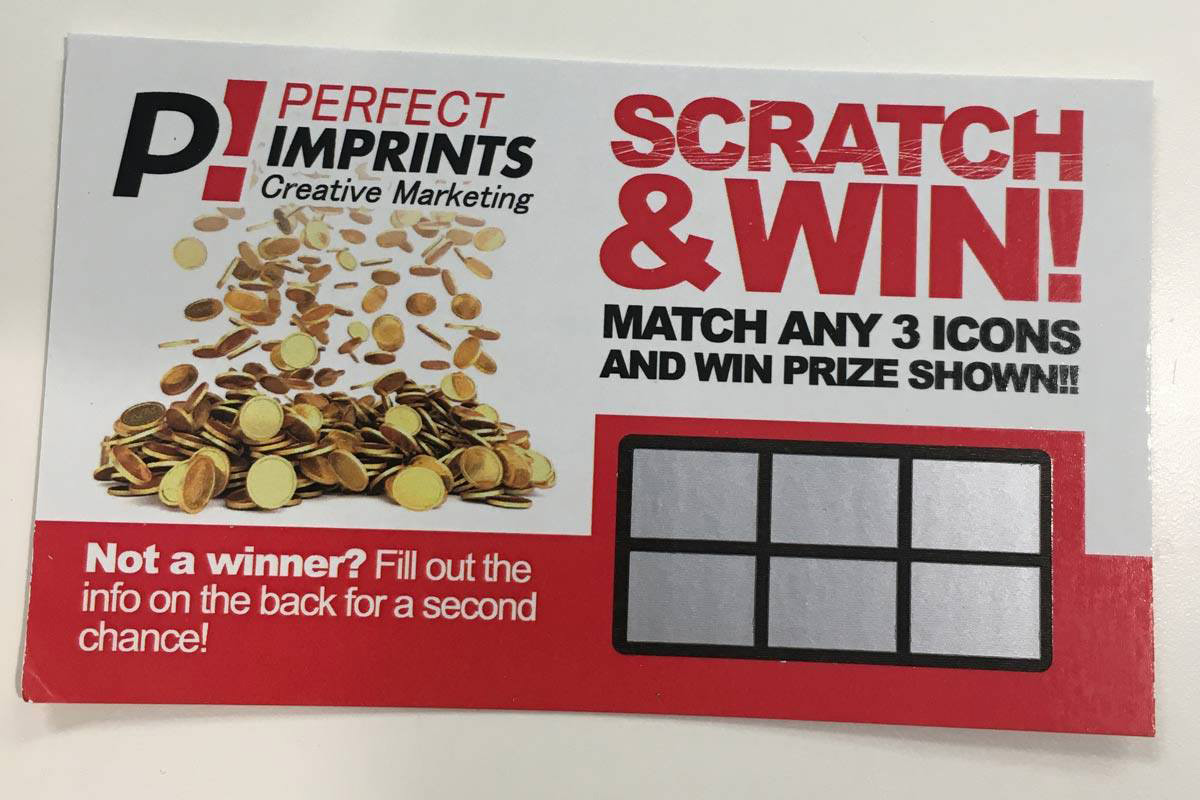 Promotional Products Scratch-Off Game