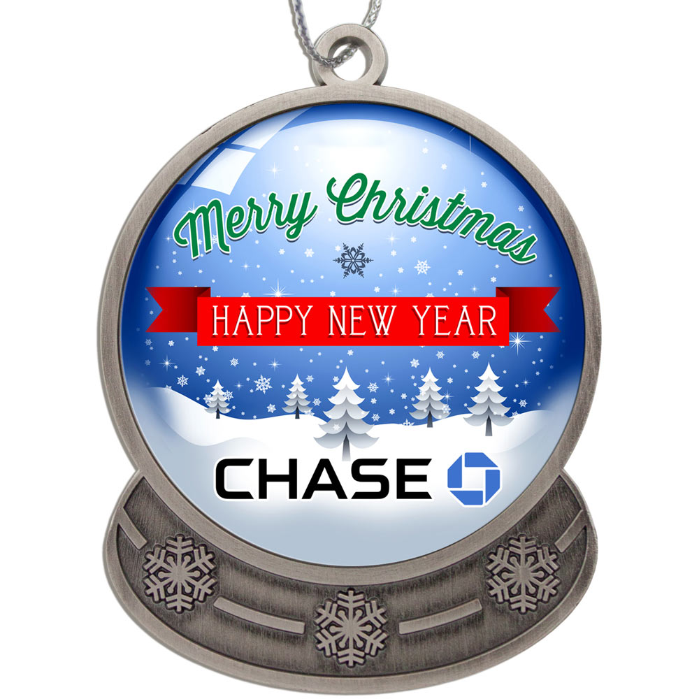 Decorate the office with custom Christmas ornaments