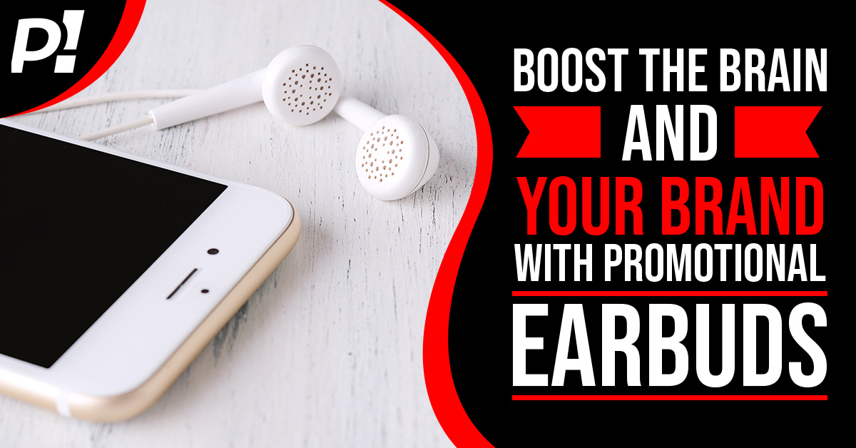 Boost the Brain and Your Brand with Promotional Earbuds