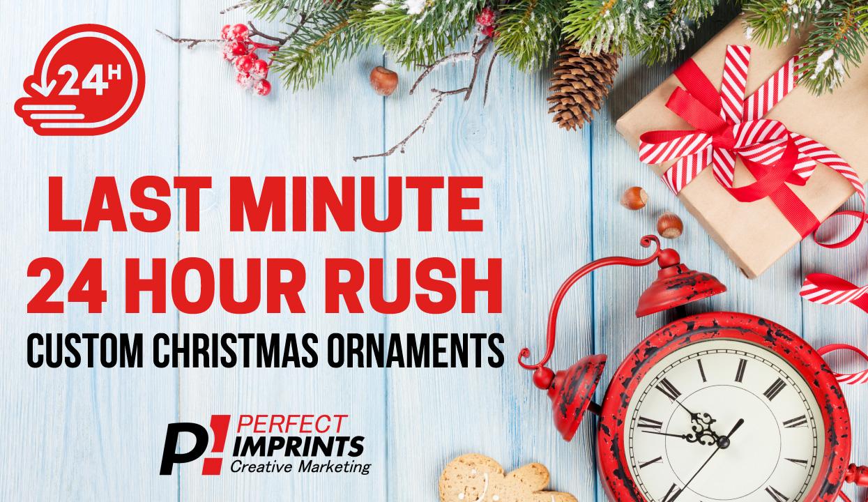 24 hour rush Custom Christmas Ornaments