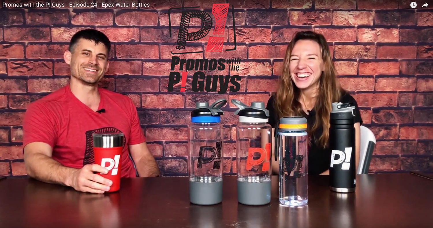 Promos with the P! Guys - Epex Water Bottles - Promotional Products
