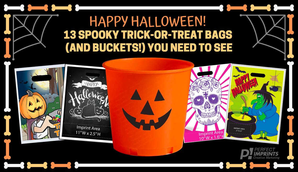 13 Custom Trick or Treat Bags and Halloween Buckets