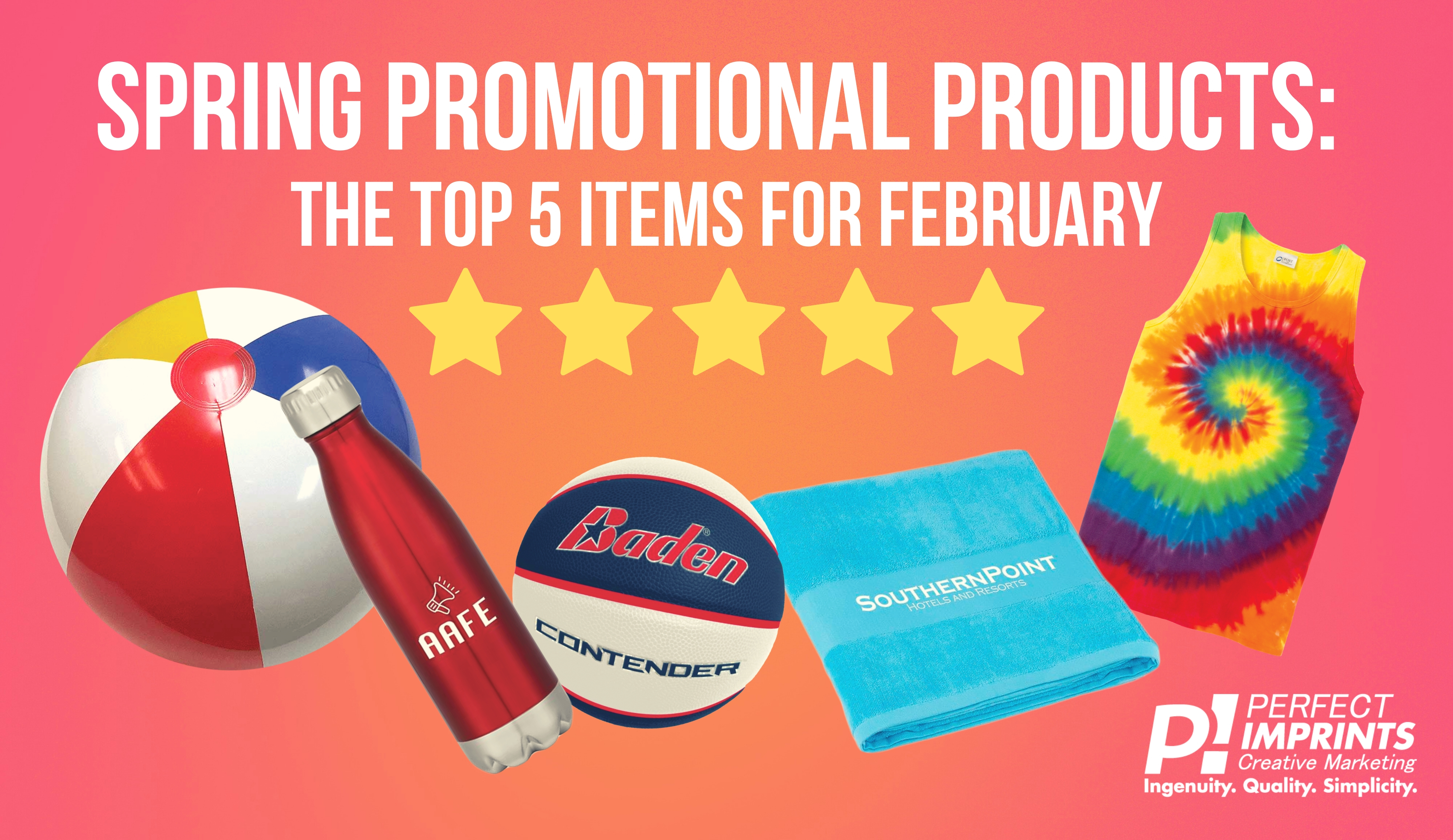 Spring Promotional Products: The Top 5 Items for February