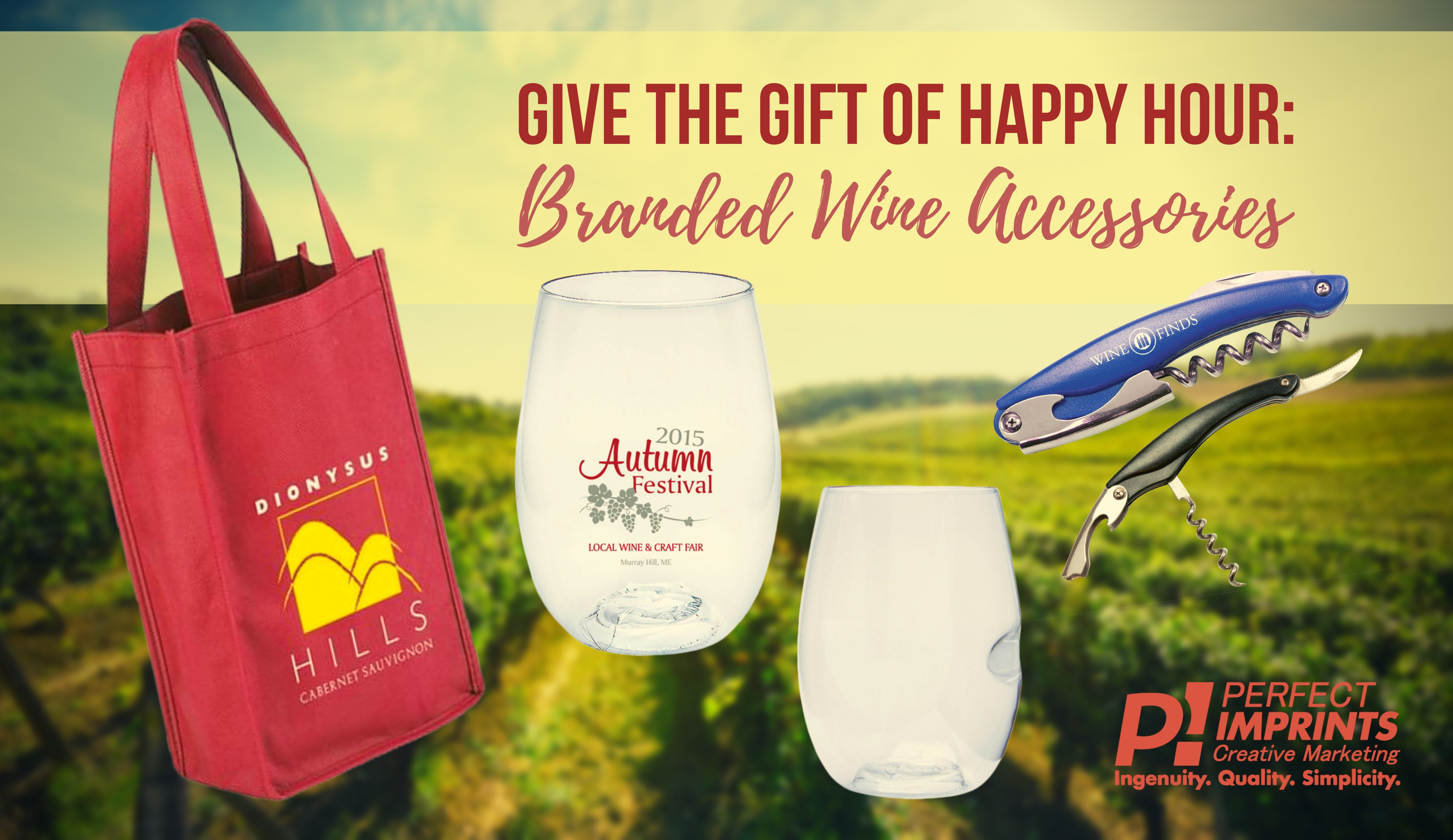 Give the Gift of Happy Hour: Branded Wine Accessories