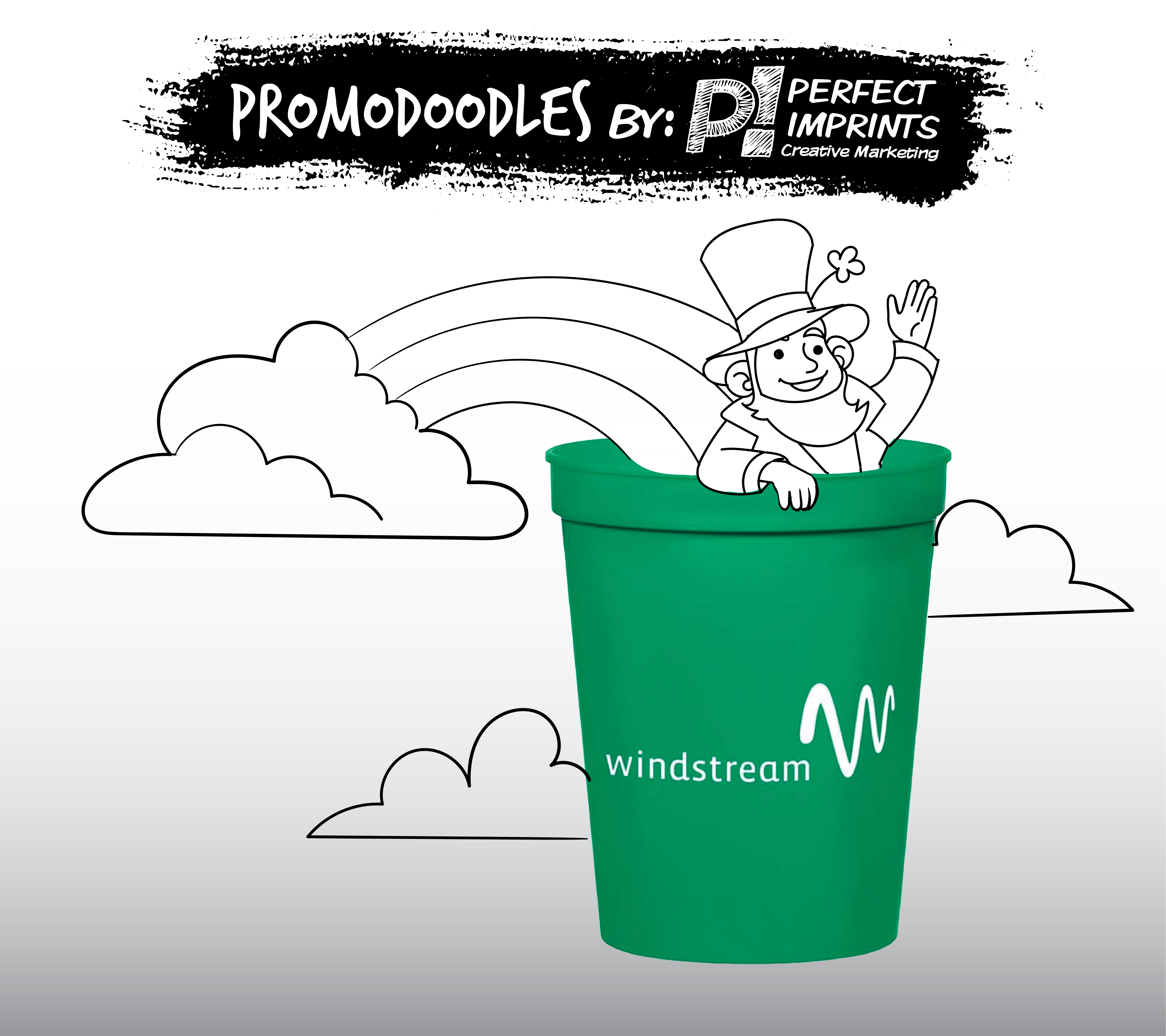 March Promodoodle: St. Patrick's Day Stadium Cup & Leprechaun