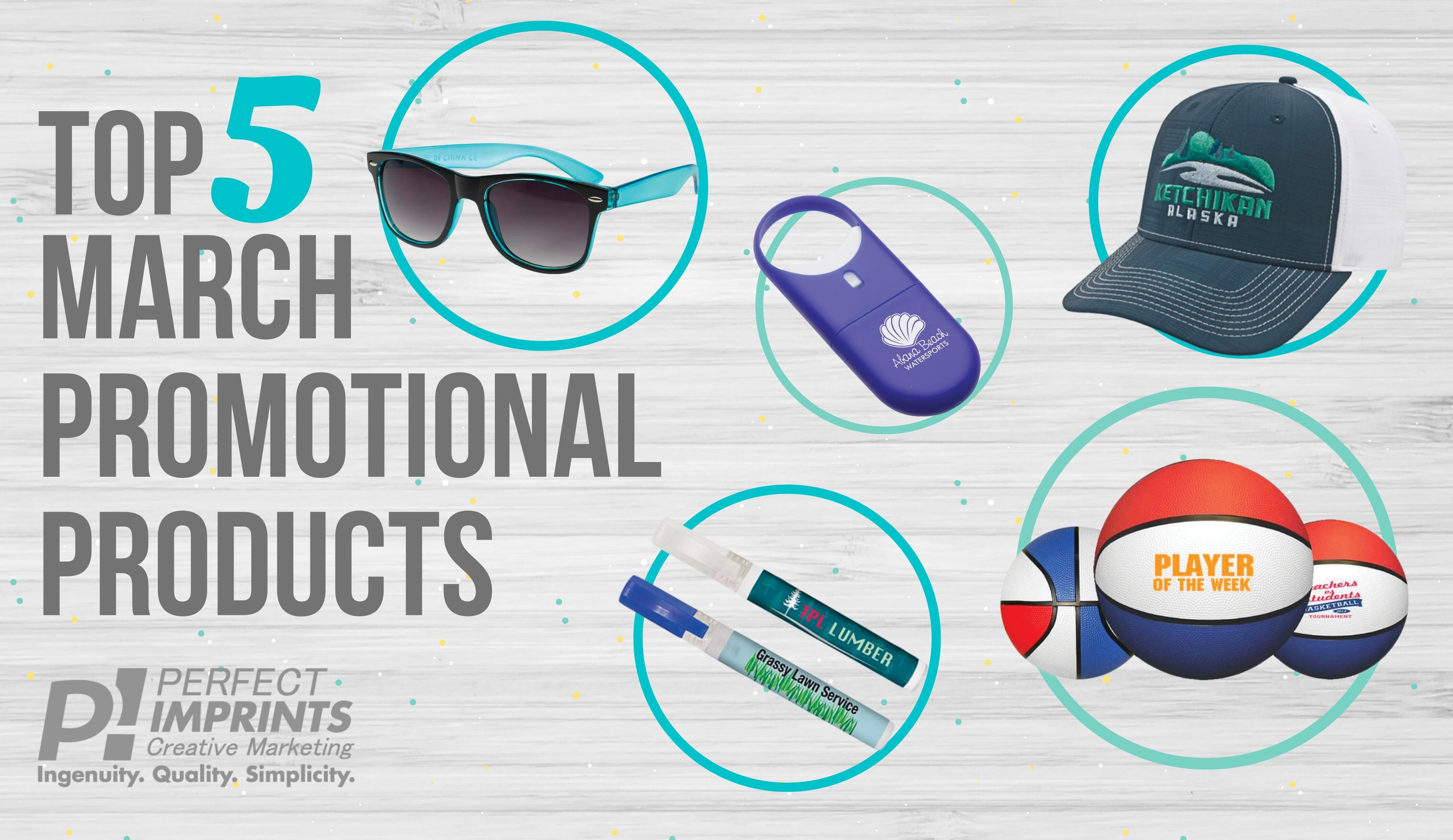Top 5 March Promotional Products